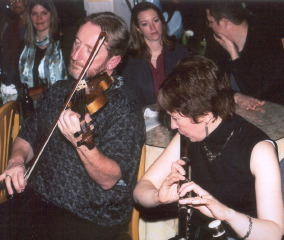 Catherine McEvoy in a session with James Kelly
