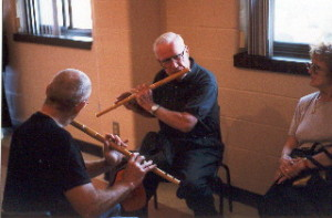 Mike Rafferty and David Levine playing together in Nova Scotia. Photo by Paul Wells.