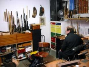 View of Tom Aebi's workshop