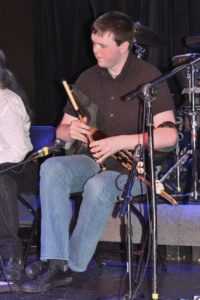 Torrin Ryan playing the pipes