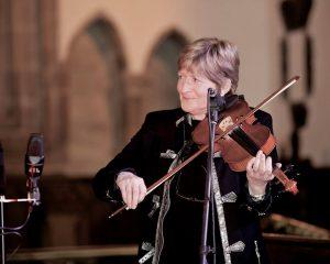 Eileen O'Brien playing fiddle