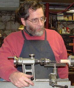 David Quinn at the lathe